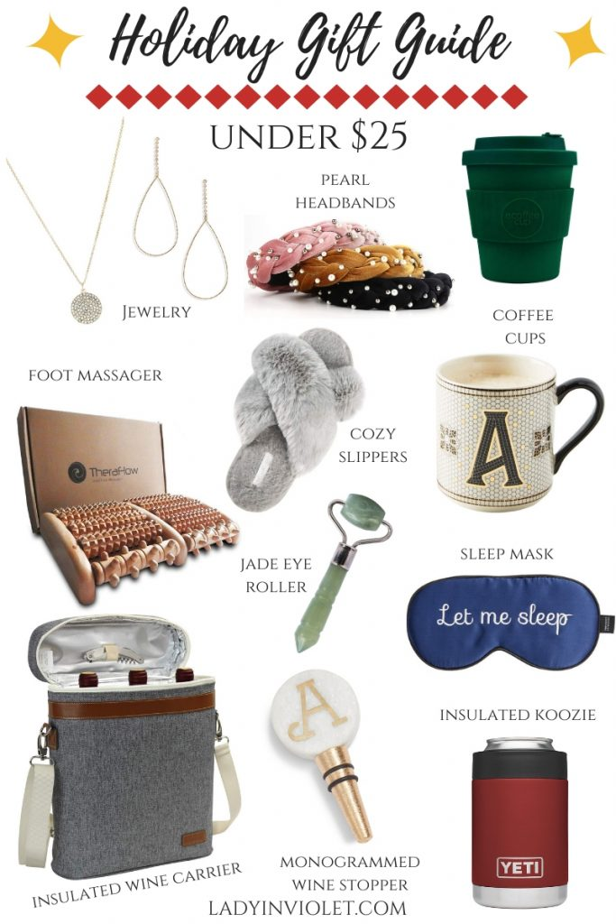 christmas gift ideas under 25 | holiday gift guide | Houston Blogger Lady in Violet