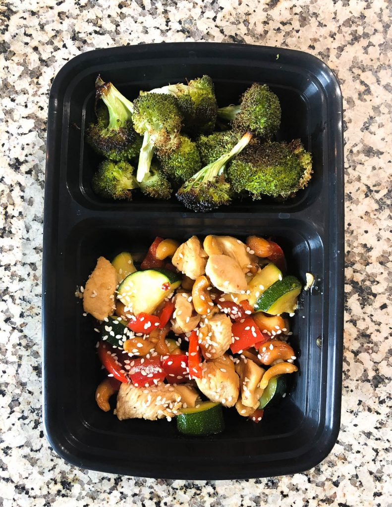meal prep idea kung pao chicken with broccoli | Healthy Lifestyle Blogger Lady in Violet