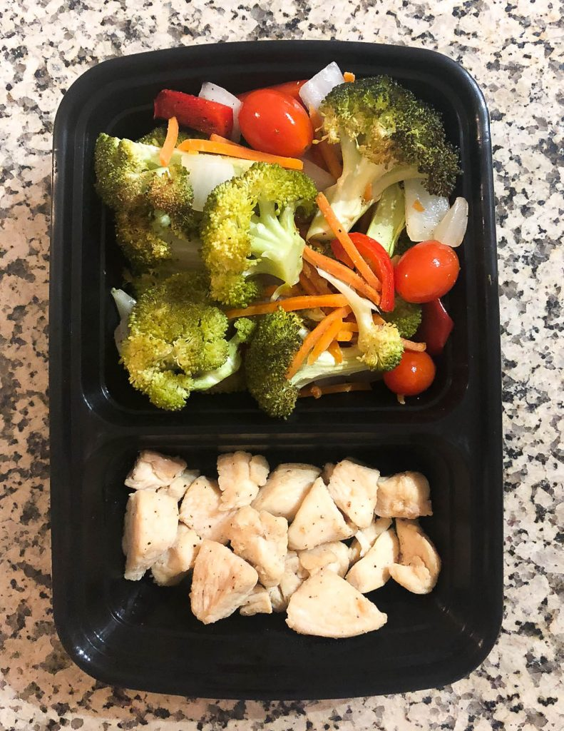 healthy lunch idea naked chicken with roasted vegetables | Healthy Living Blogger Lady in Violet