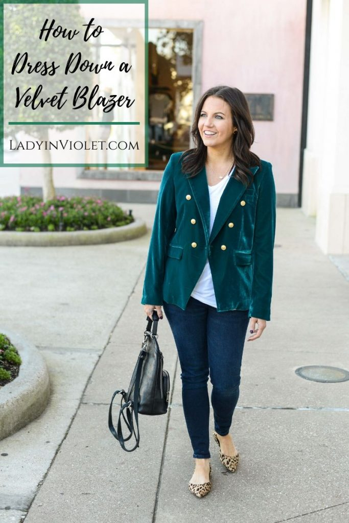 How to Dress Down a Velvet Blazer | Fashion Blogger Lady in Violet