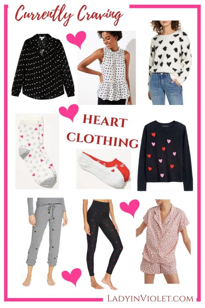 Valentines Day Outfit | Heart Clothing | Affordable Fashion Blog Lady in Violet