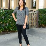 Gray Leopard Print Top + Spring Reader Survey
