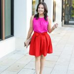 Valentine's Day Outfit: Red Bow Skirt
