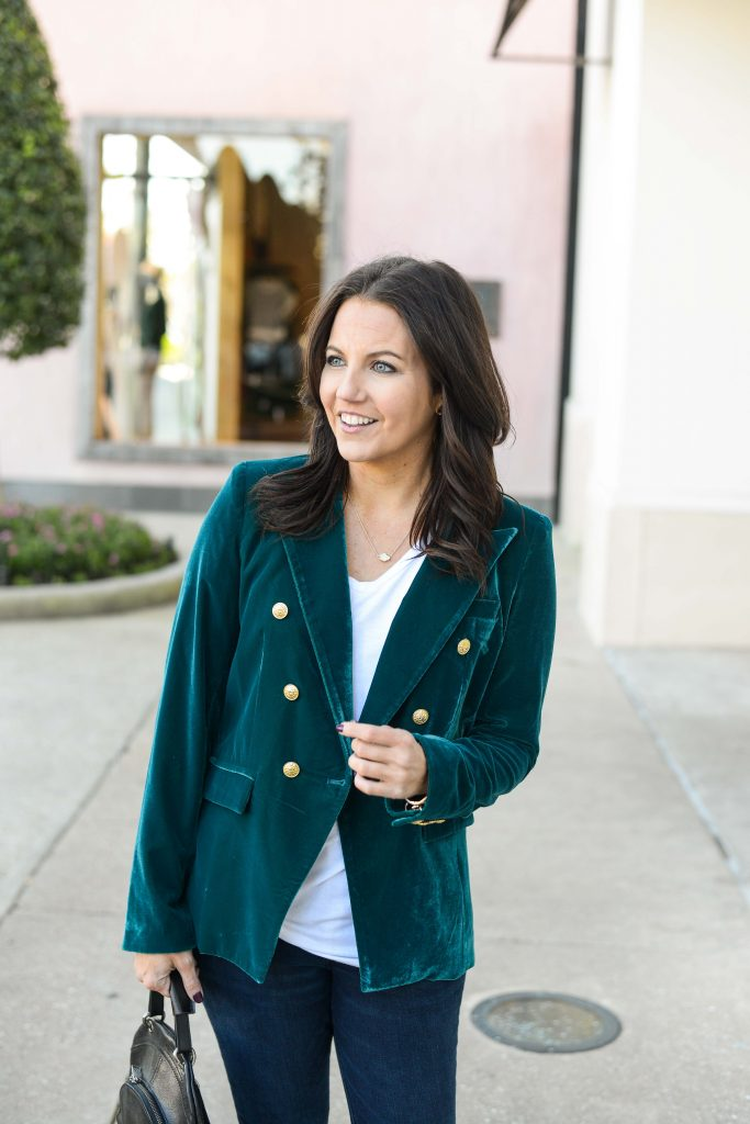 casual outfit | tips for dressing down a blazer | Personal Style Blog Lady in Violet