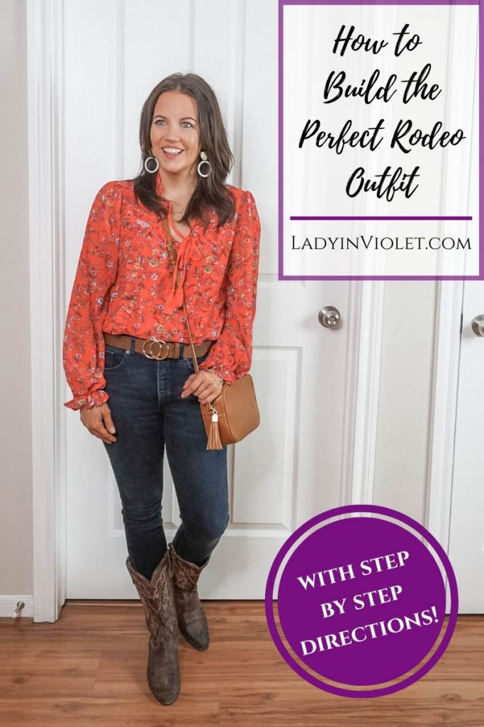 how to build the perfect rodeo outfit | putting together an outfit from scratch | Houston Fashion Blog Lady in Violet