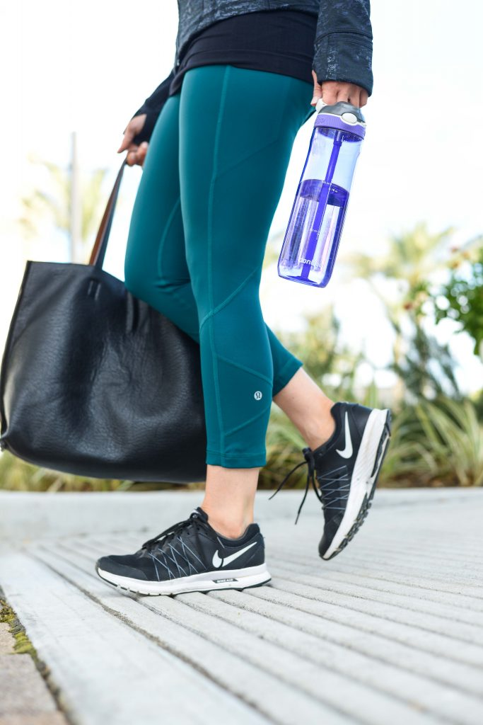 what to wear to a workout class | leggings for cardio | Petite Fashion Blog Lady in Violet