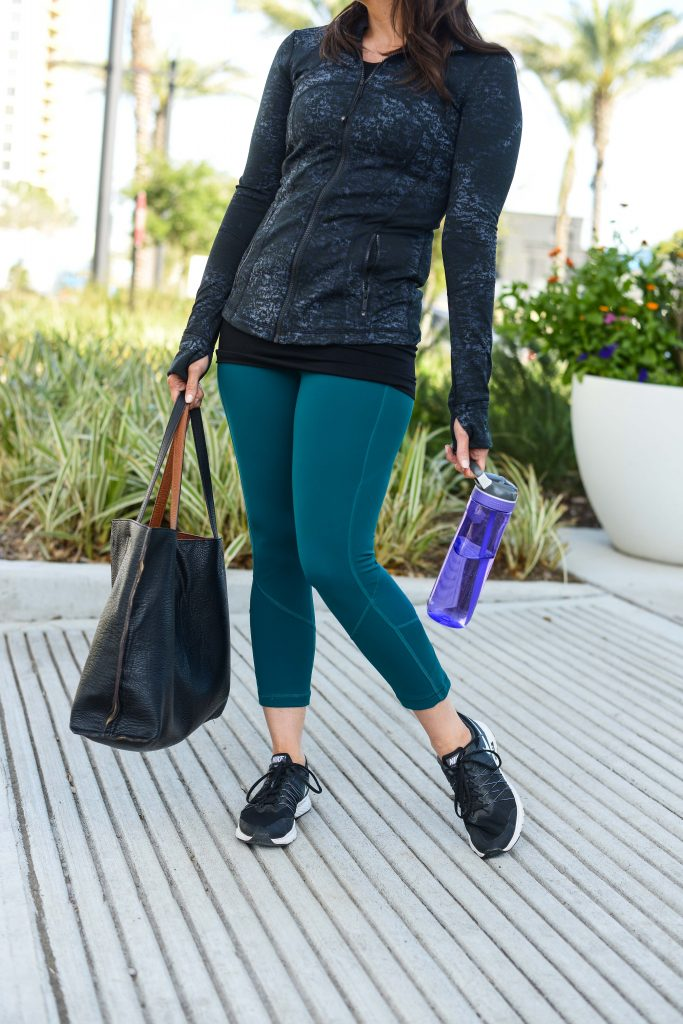 how to stay motivated to workout | | lululemon leggings and define jacket | Lifestyle Blog Lady in Violet