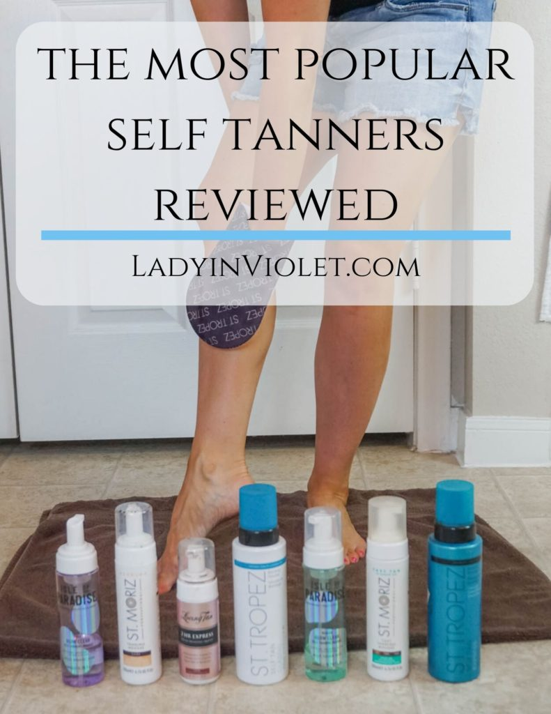 reviews of the most popular self tanners | best self tanning products | Houston beauty blogger Lady in Violet