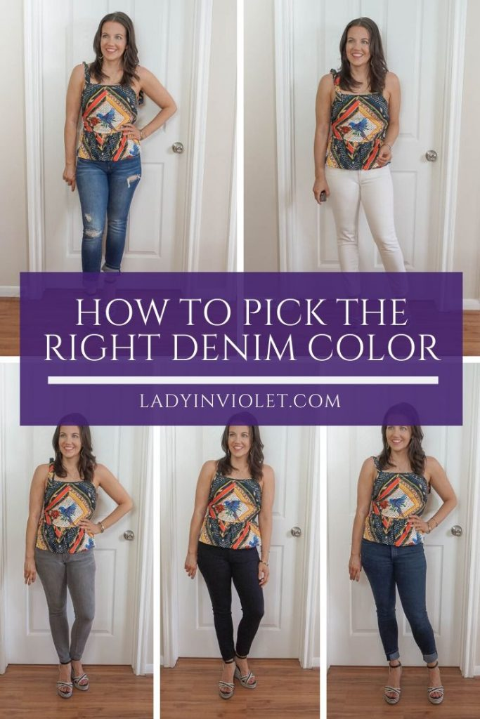 how top pick the right denim color | what jeans to wear | Everyday style blog Lady in violet