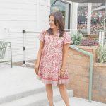 Pink Vintage Floral Dress