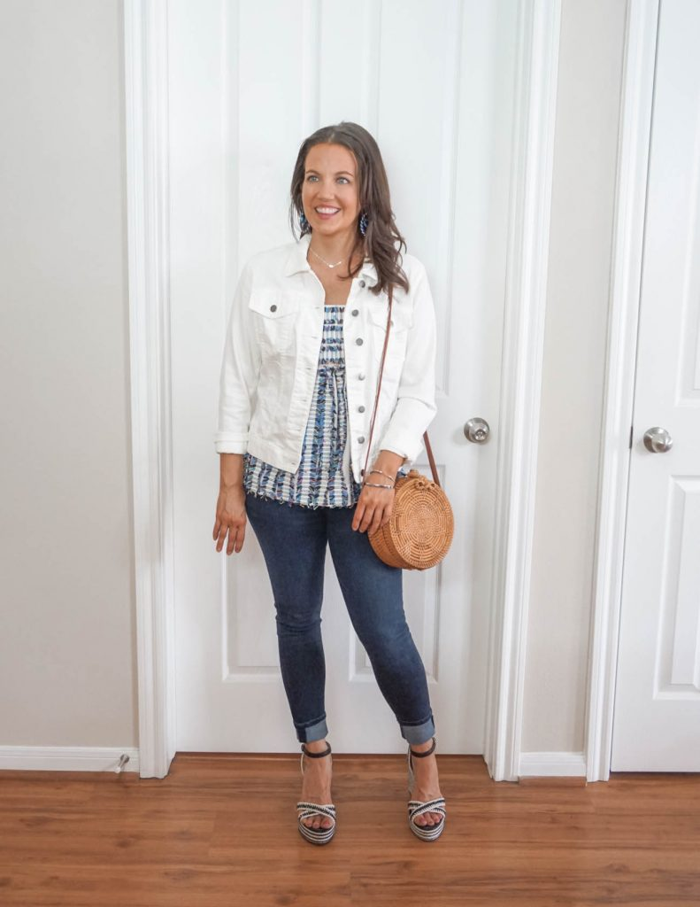 how to create a layered spring outfit | black espadrille wedges | Casual Fashion Blog Lady in Violet