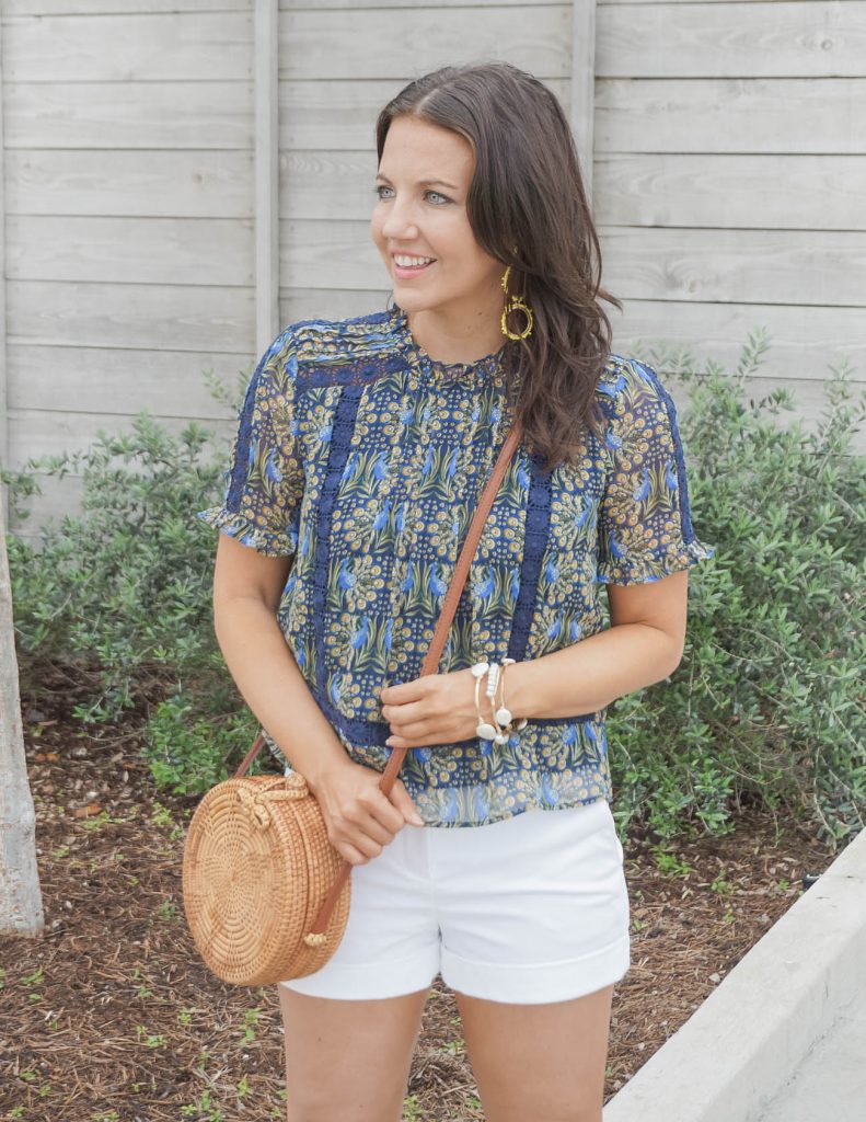 casual outfit   yellow statement earrings   circle crossbody bag   Everyday Fashion Blogger Lady in Violet