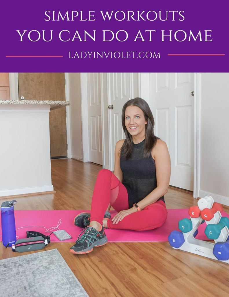 simple workouts you can do at home | minimal home gym items | Healthy Lifestyle Blog Lady in Violet
