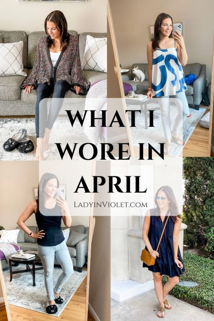 spring outfit ideas | casual at home outfits | Affordable fashion blog Lady in Violet