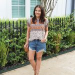 Summer Outfit   Cutoff Jean Shorts