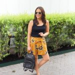 Yellow Floral Paperbag Shorts