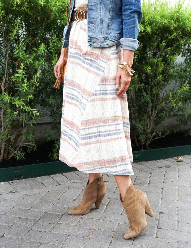 how to wear summer dress in fall | brown booties | Houston Fashion Blog Lady in Violet