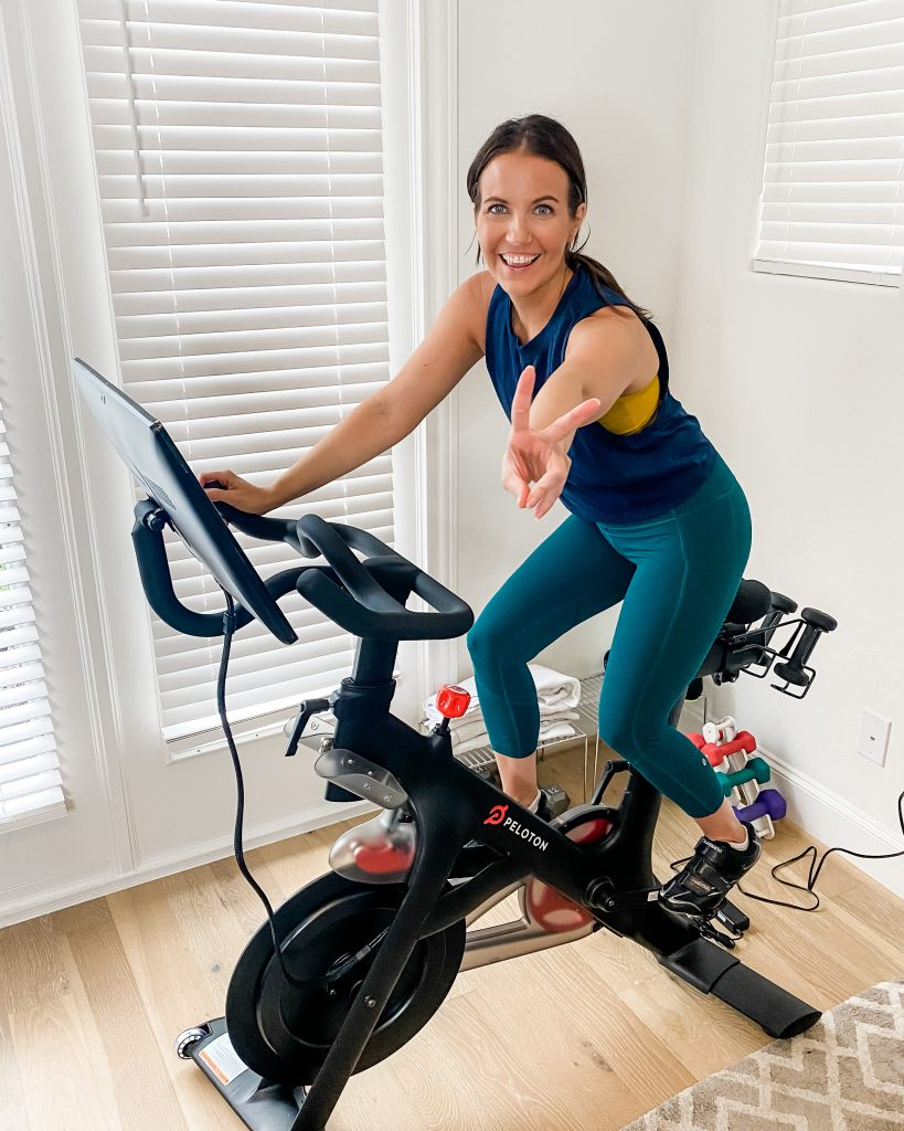 peloton spin bike | workout clothes | spin shoes | Top Lifestyle Blog Lady in Violet