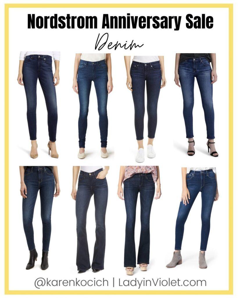 nordstrom anniversary sale | best denim jeans | dark wash jeans | Houston Fashion Blog Lady in Violet