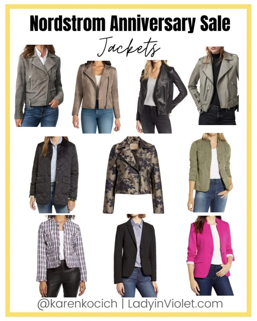 nordstrom anniversary sale jackets | leather jacket | blazers | Petite Fashion Blog Lady in Violet
