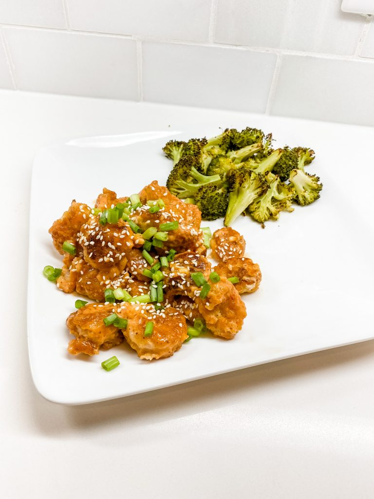 bang bang shrimp | whole 30 dinner ideas | Healthy Living Blog Lady in Violet