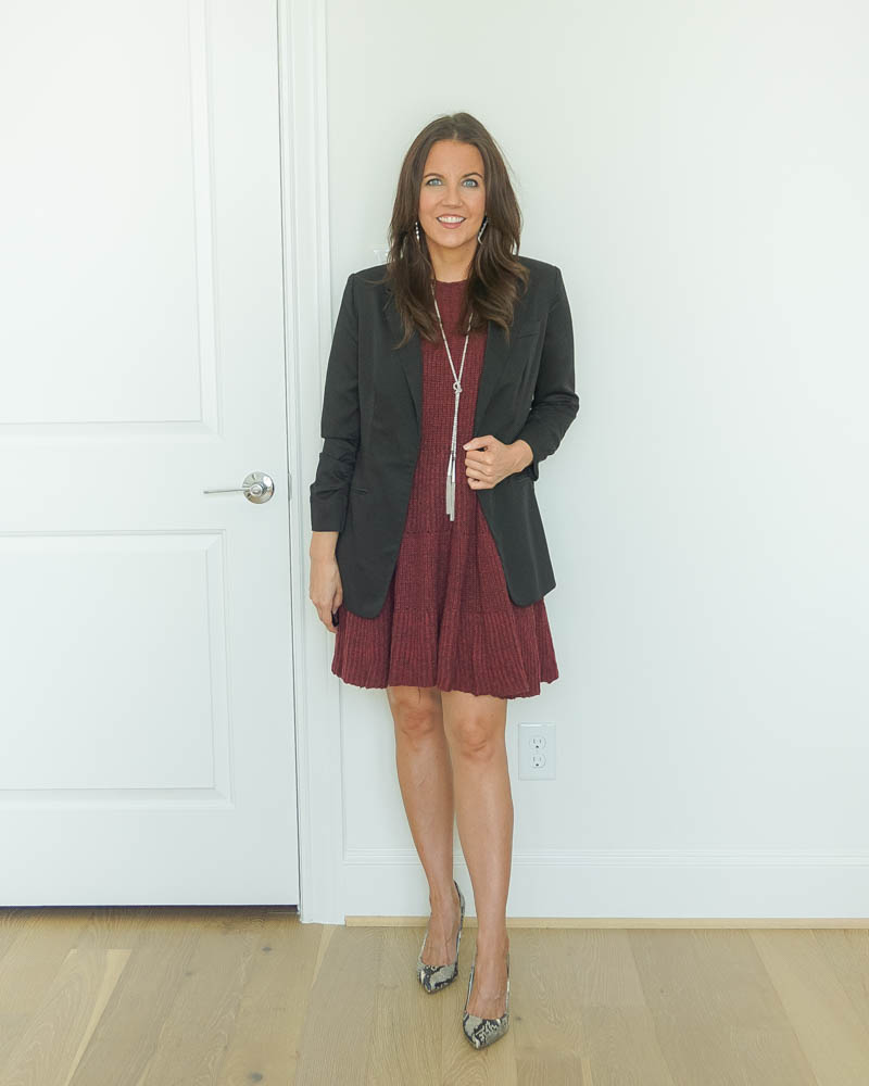 work outfit | black blazer | snakeskin heels | Texas Fashion Blog Lady in Violet