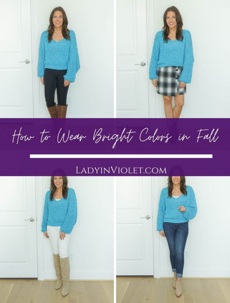 how to wear bright color in fall season | fall outfit ideas | Popular US fashion blog Lady in Violet