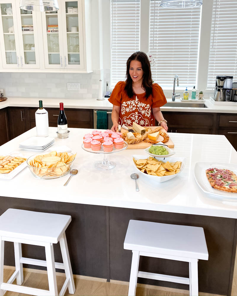 tips for hosting a small holiday party at home   party host duties   party food   American Lifestyle Blog Lady in Violet