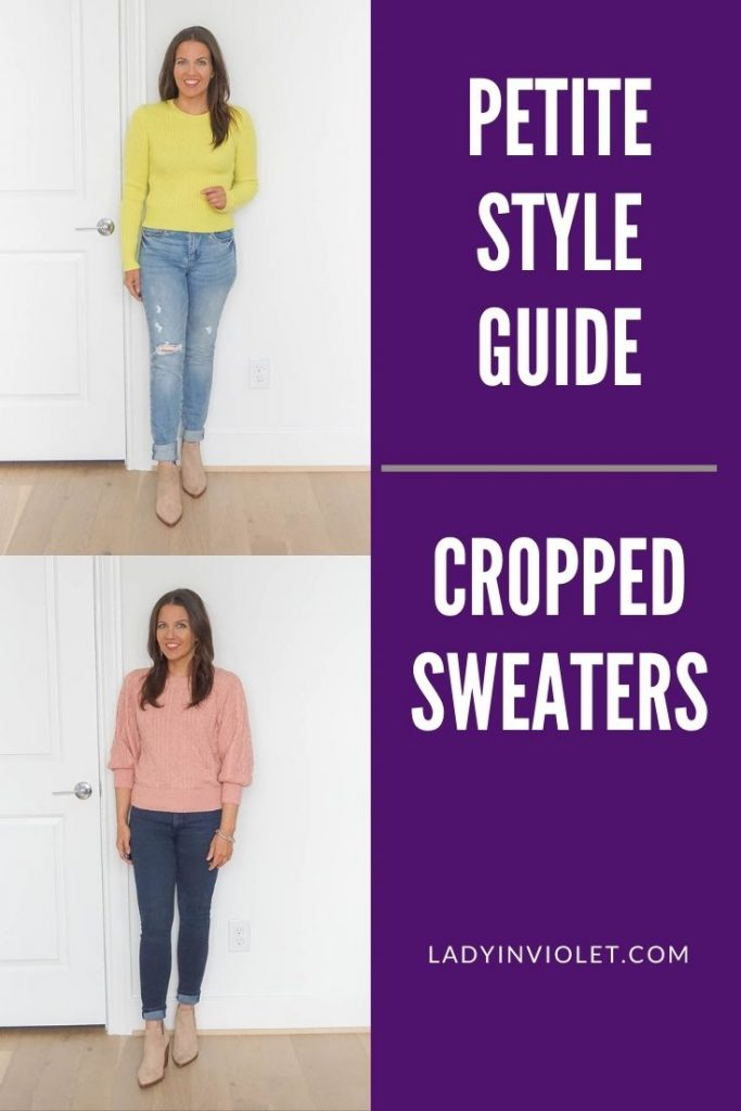 petite style guide for cropped sweaters | petite fashion tricks and tips | texas fashion blog lady in violet