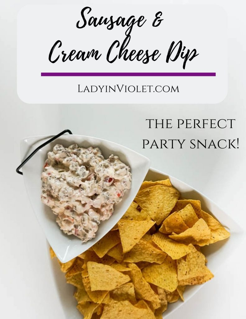 sausage and cream cheese dip | easy party snacks | football watching appetizers | Houston Blogger Lady in Violet