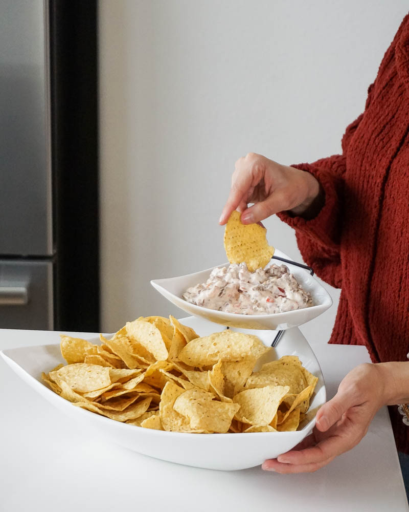 popular party dips | sausage and cream cheese dip recipe | Lady in Violet Blog