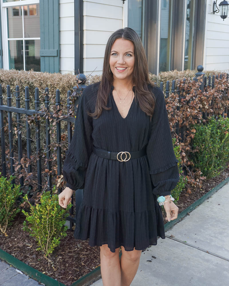 spring outfit | black shift dress | turquoise stone bracelet | Texas Fashion Blog Lady in Violet