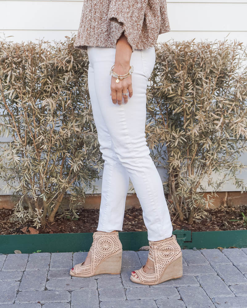 spring fashion | white denim | stone bangles | Texas Fashion Blogger Lady in Violet