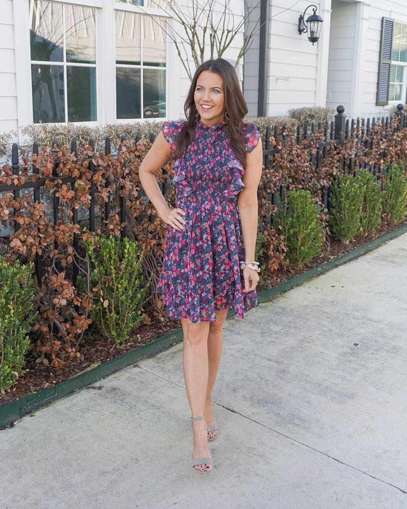 spring fashion | easter dresses | floral dress | Houston Fashion Blogger Lady in Violet