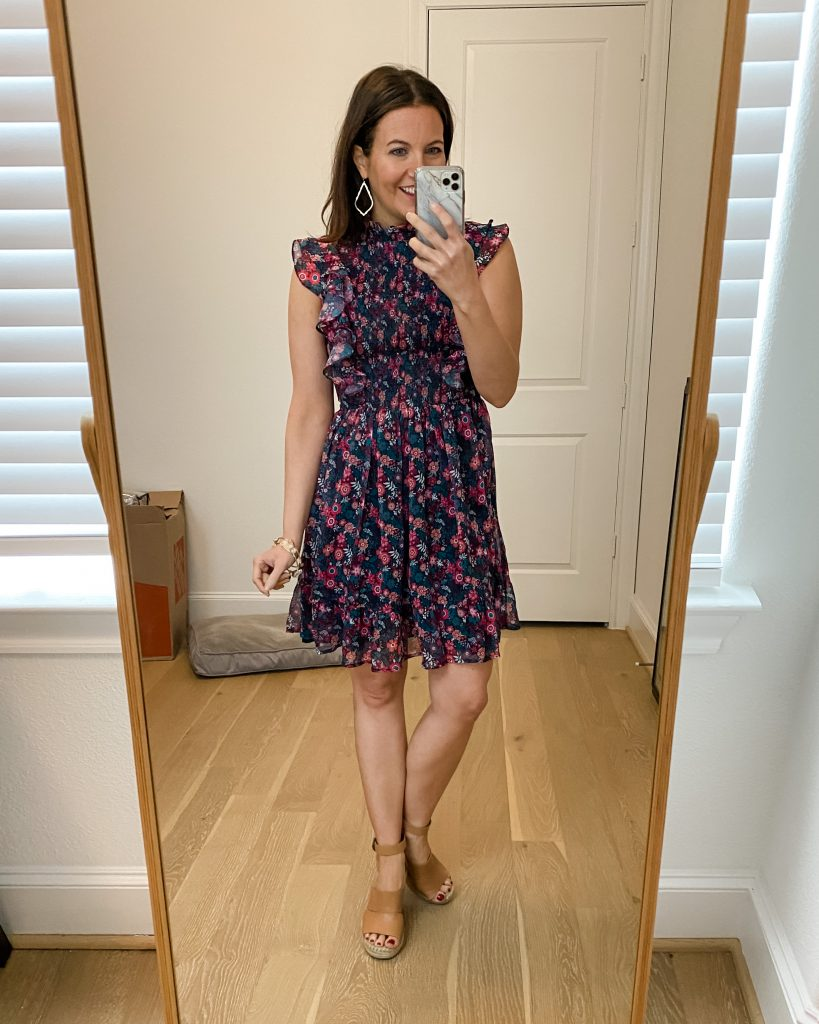 spring floral dresses | work outfits | sleeveless dress | Houston Fashion Blog Lady in Violet