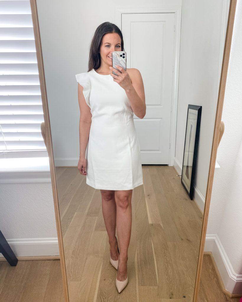 bridal shower dress | white dresses | wedding | Texas Fashion Blogger Lady in Violet