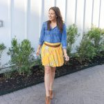 How to Style a Pleated Mini Skirt
