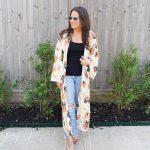 Summer Boho Vibes: Floral Print Kimono