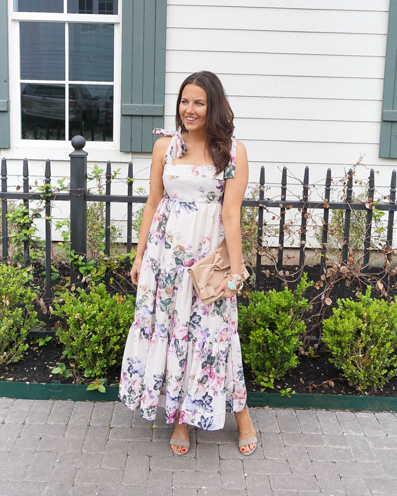 summer outfit   white floral dress   dresses under 100   Petite Fashion Blogger Lady in Violet