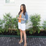 White Denim Shorts Outfit