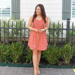 Red Apron Mini Dress