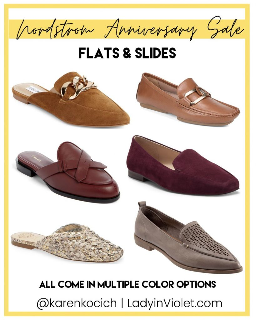 nordstrom anniversary sale flats and slides | Texas Fashion Blog Lady in Violet