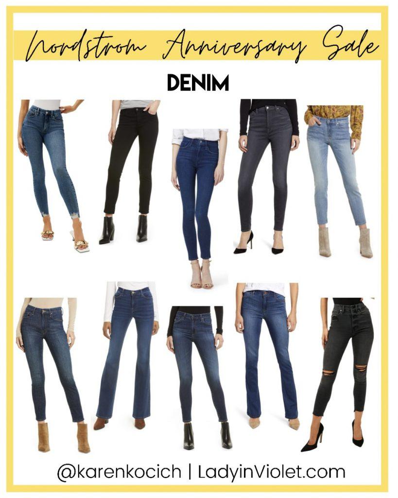 nordstrom anniversary sale denim jeans | Houston Fashion Blogger Lady in Violet