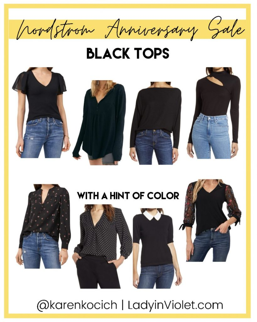nordstrom anniversary sale black tops for work | Texas Fashion Blogger Lady in Violet