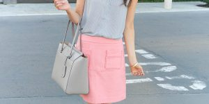 Workwear: Pink Pocket Skirt