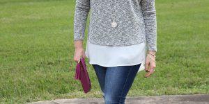 Faux Layered Sweater