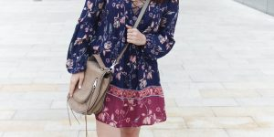 Boho Chic Style | Floral Swing Dress