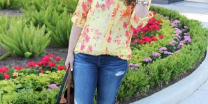 Yellow Floral Blouse + Link Up