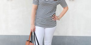 What to Wear for the 4th of July: Striped Tee & Link Up